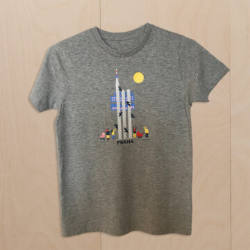kids t-shirt prague grey