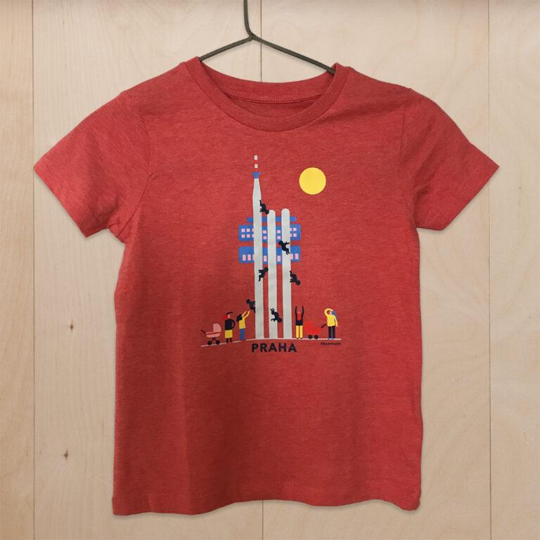 kids t-shirt prague red