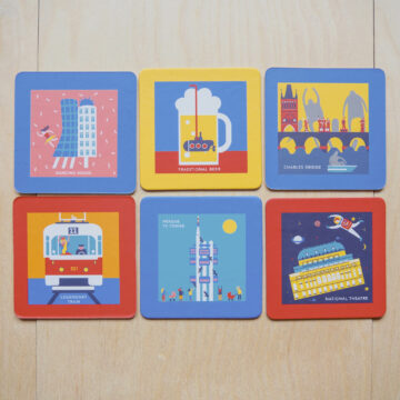 6pcs beer mat set