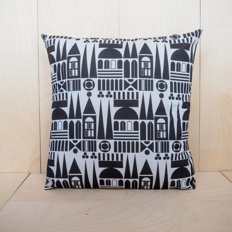 black white pillow case