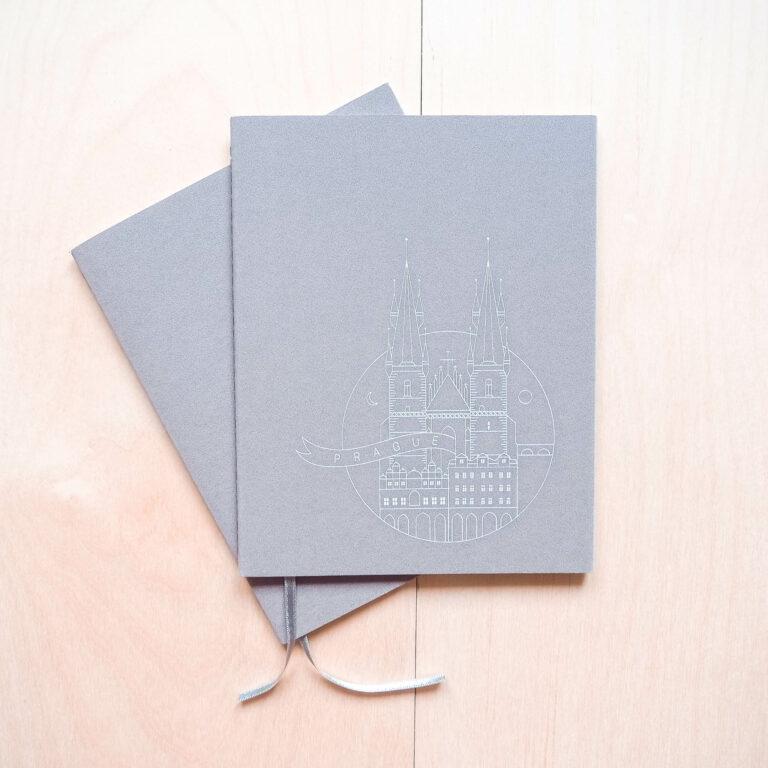 paper notebook grey
